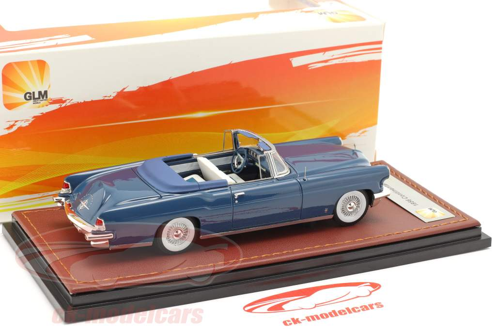 Lincoln Continental MK II Open Top year 1956 blue 1:43 GLM