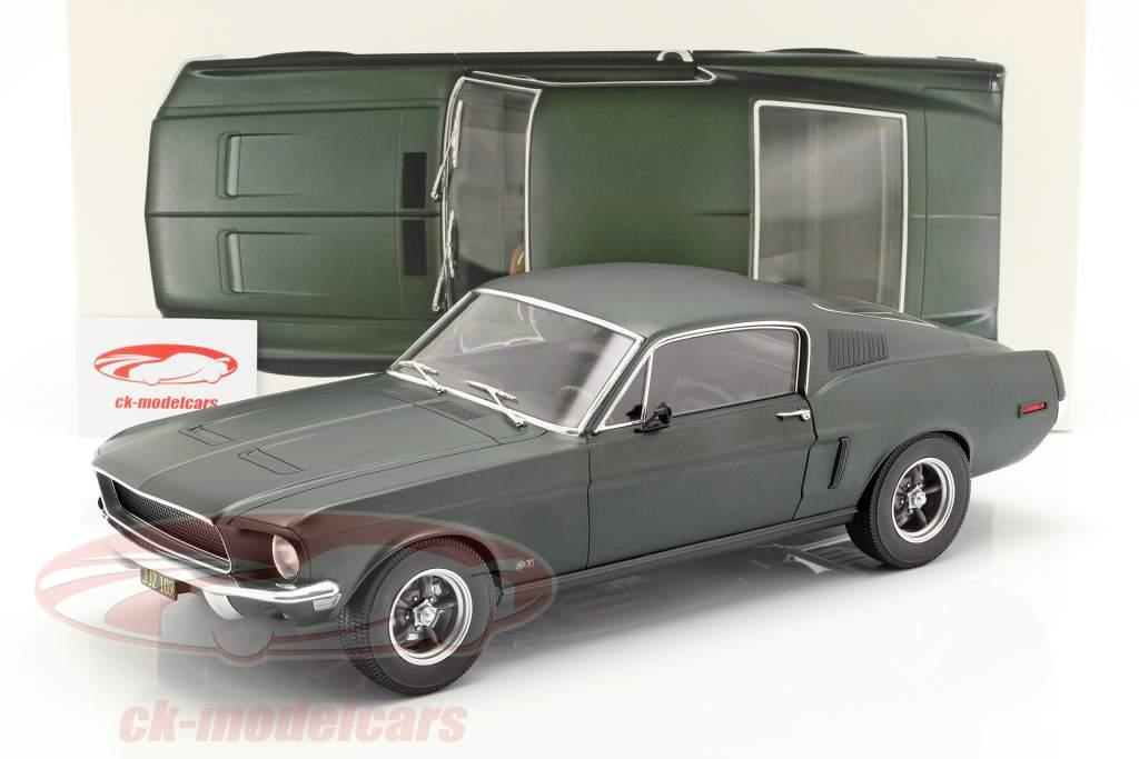 Ford Mustang Fastback coupe Opførselsår 1968 satin grøn metallisk 1:12 Norev