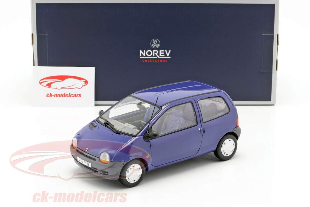 Renault Twingo Opførselsår 1993 outremer blå 1:18 Norev