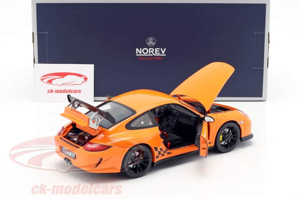 Porsche 911 (997 II) GT3 RS ano de construção 2010 laranja 1:18 Norev
