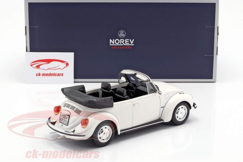 Volkswagen VW 1303 cabriolé ano de construção 1972 branco 1:18 Norev