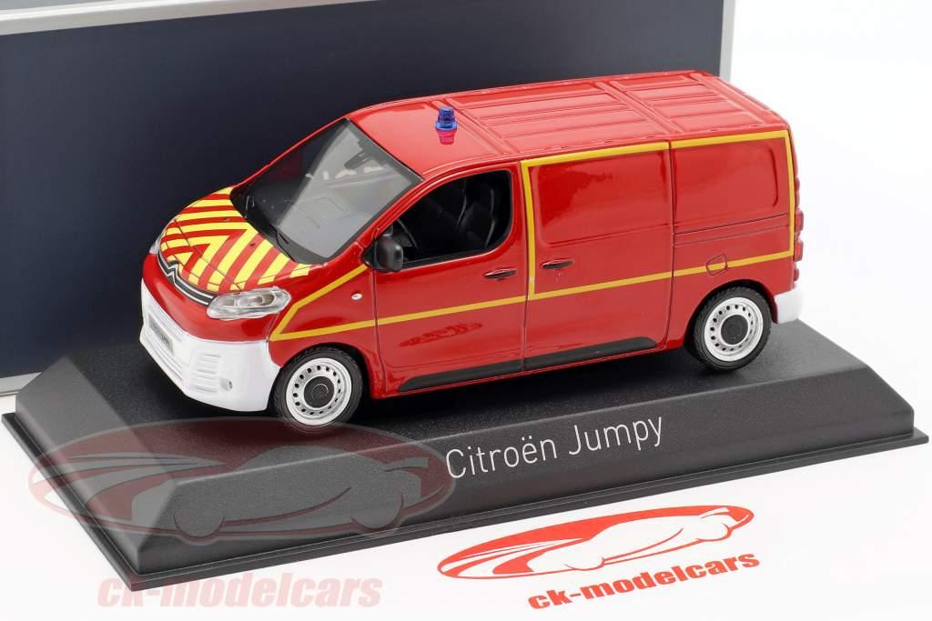 Citroen Jumpy furgoneta departamento de bomberos año de construcción 2016 rojo / amarillo 1:43 Norev