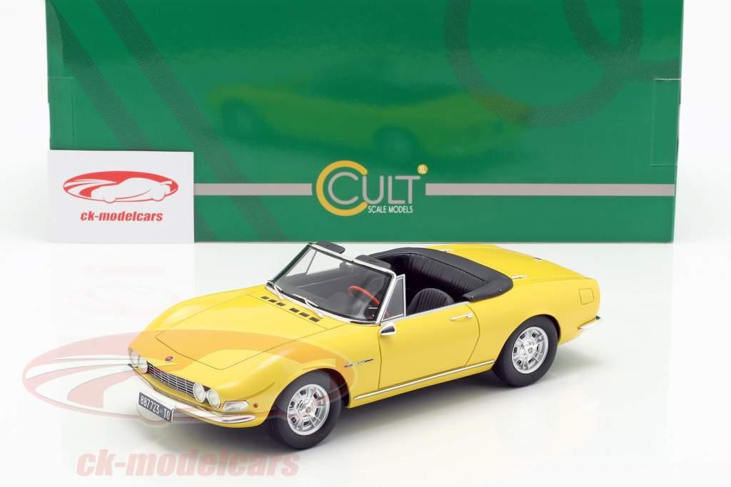 Fiat Dino Spyder Bouwjaar 1966 geel 1:18 Cult Scale