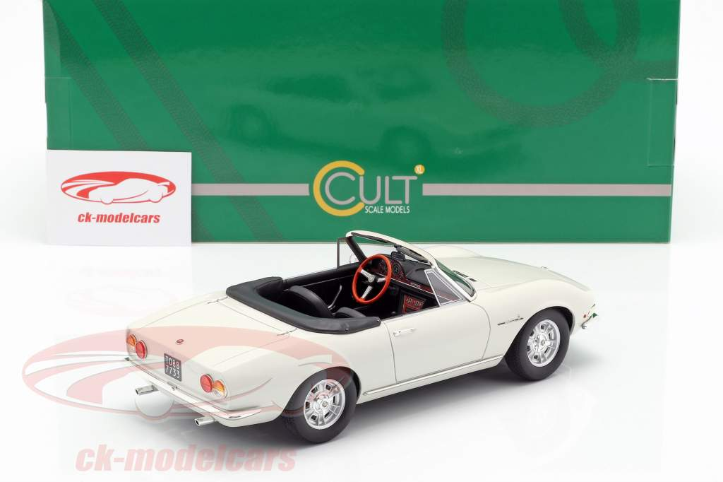 Fiat Dino Spyder Bouwjaar 1966 wit 1:18 Cult Scale