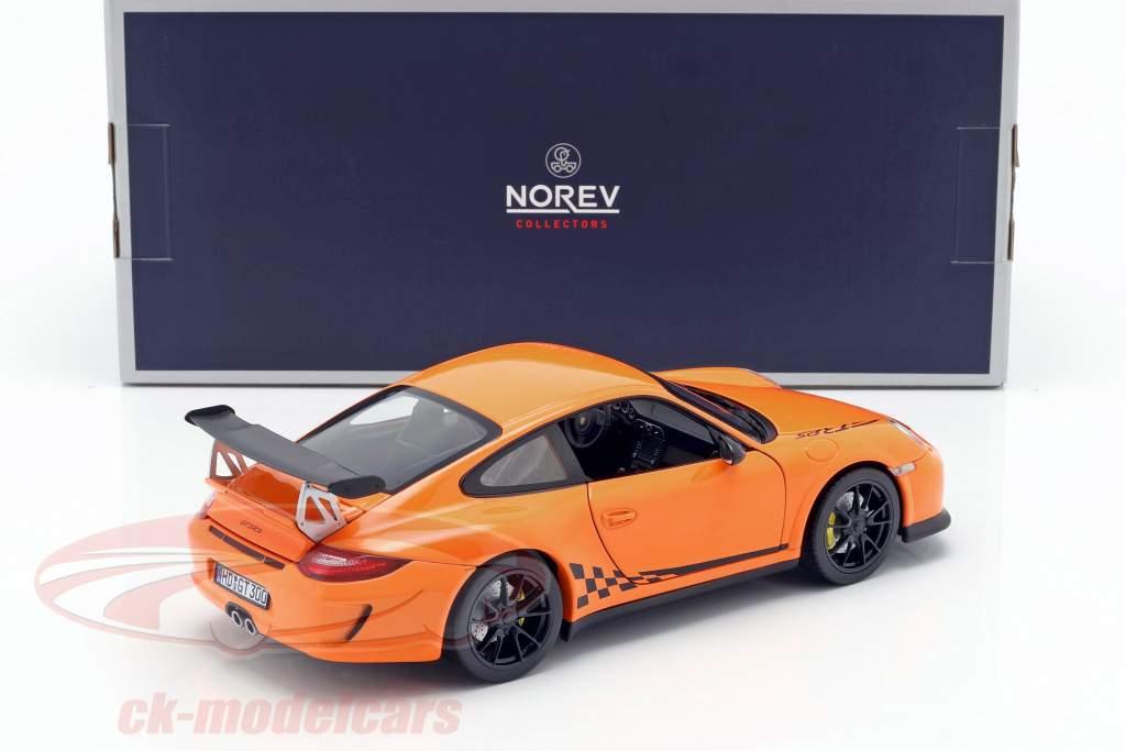 Porsche 911 (997 II) GT3 RS Opførselsår 2010 appelsin 1:18 Norev