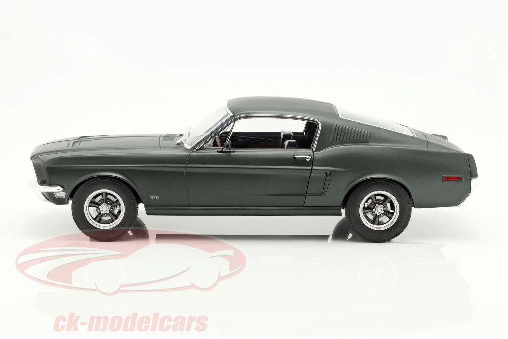Ford Mustang Fastback coupe year 1968 satin green metallic 1:12 Norev