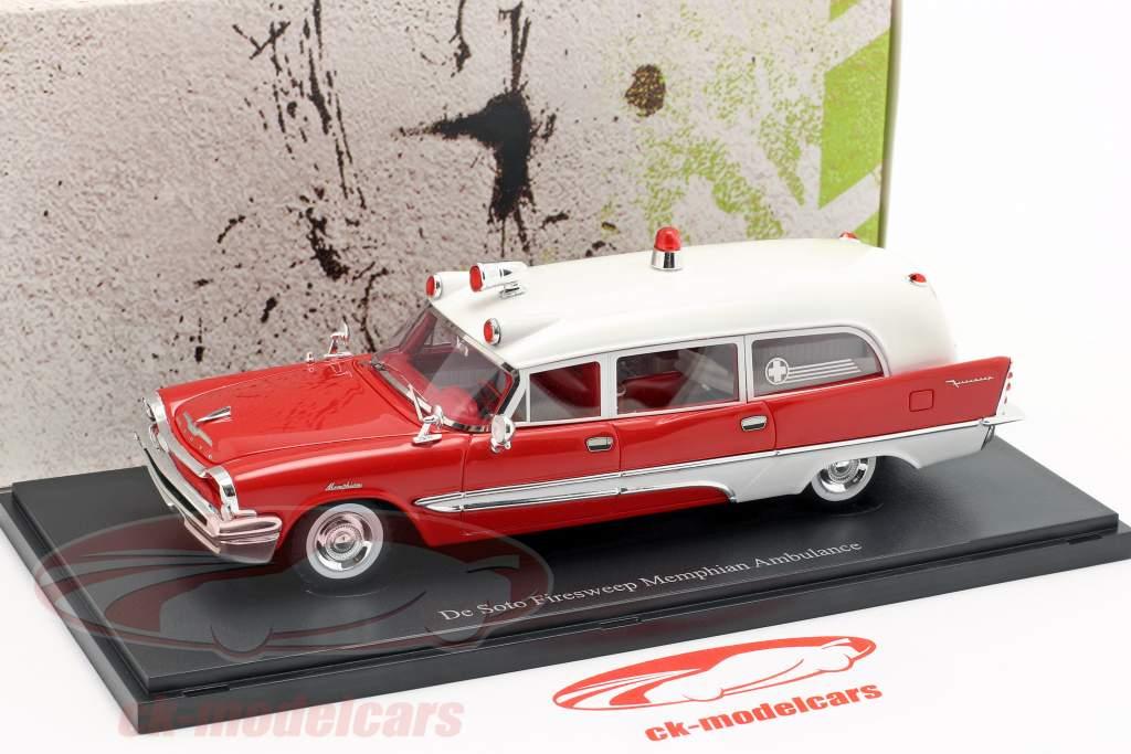 De Soto Firesweep Memphian Ambulance Construction year 1957 red / White 1:43 AutoCult