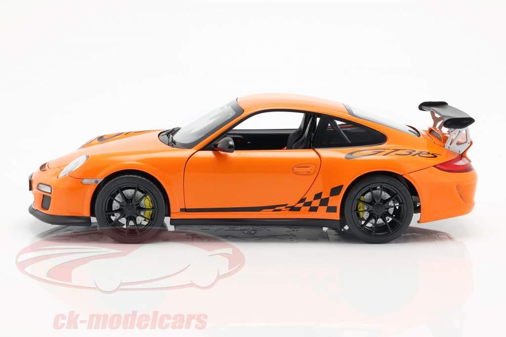 Porsche 911 (997 II) GT3 RS Baujahr 2010 orange 1:18 Norev