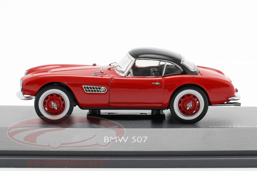 BMW 507 med Hardtop rød / sort 1:43 Schuco