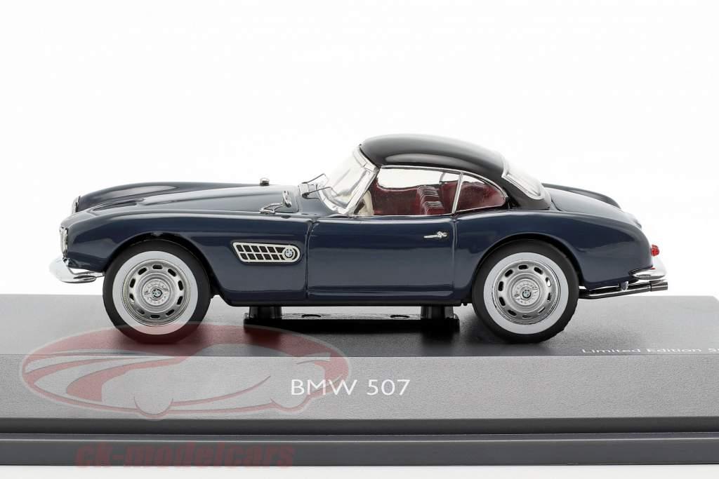 BMW 507 com hardtop cinza azul / preto 1:43 Schuco