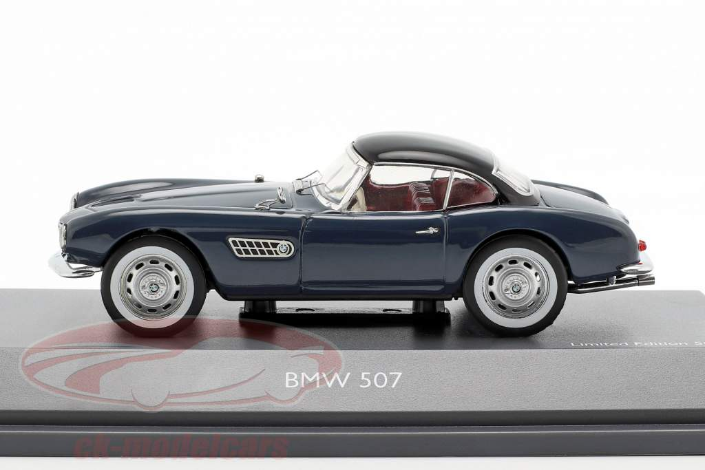 BMW 507 con techo duro azul gris / negro 1:43 Schuco