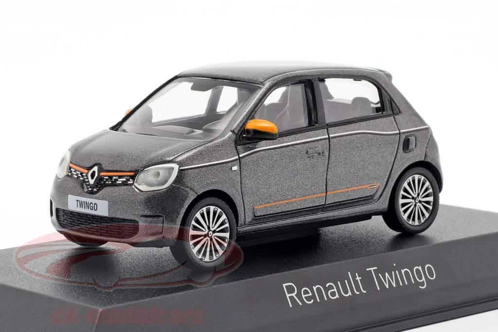 Renault Twingo Baujahr 2019 lunaire grau metallic 1:43 Norev