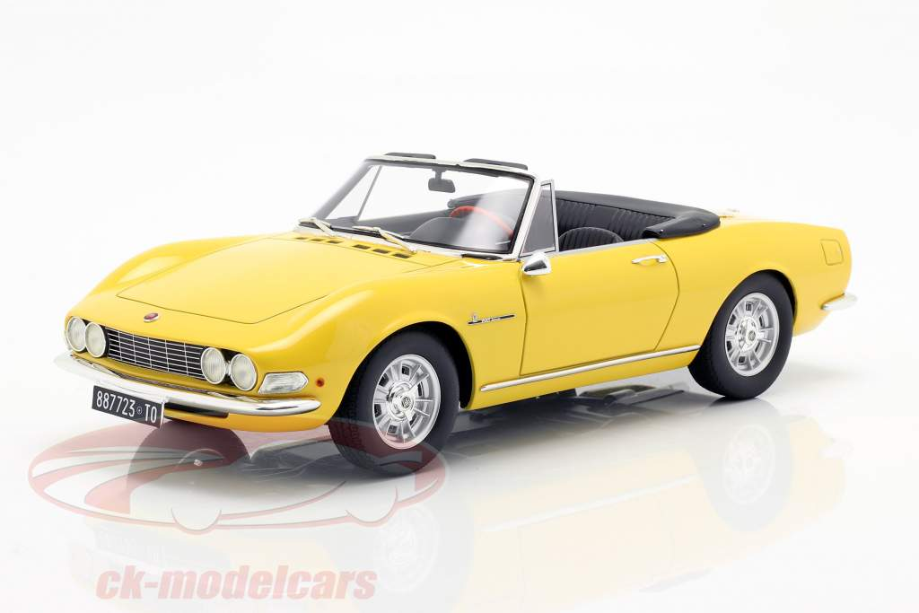 Fiat Dino Spyder year 1966 yellow 1:18 Cult Scale