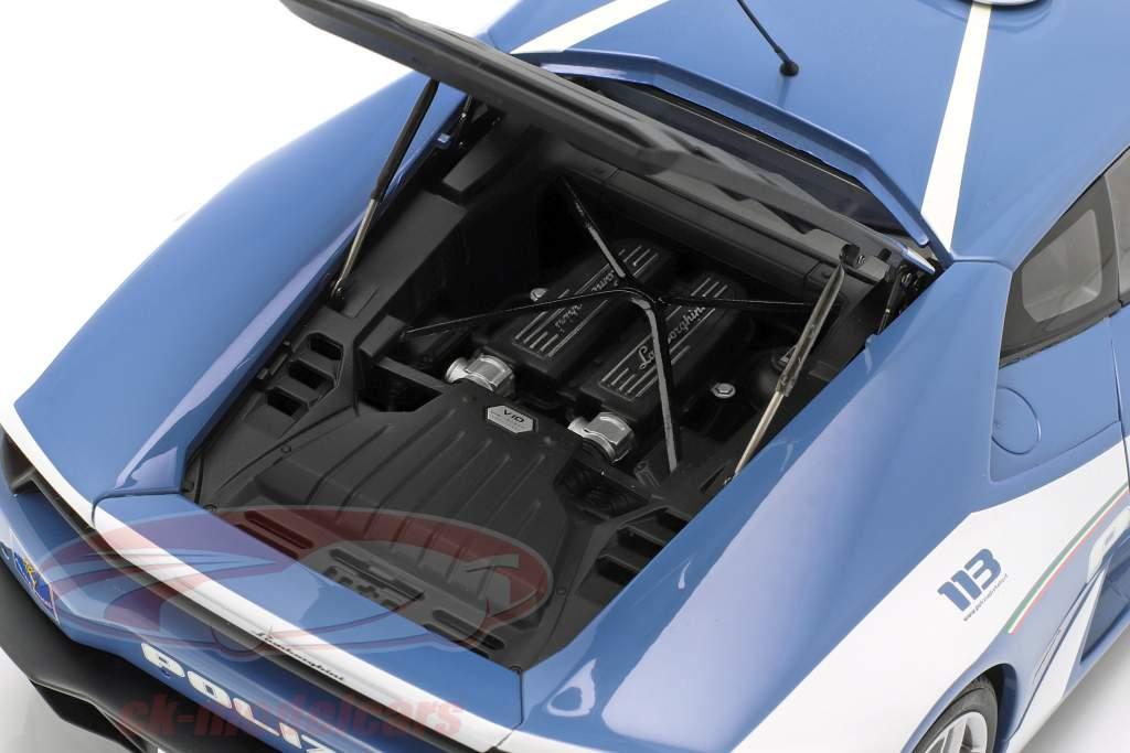 Lamborghini Huracan LP610-4 polícia ano de construção 2014 azul / branco 1:18 AUTOart