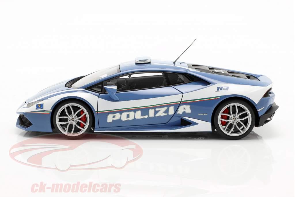 Lamborghini Huracan LP610-4 Polizei Baujahr 2014 blau / weiß 1:18 AUTOart