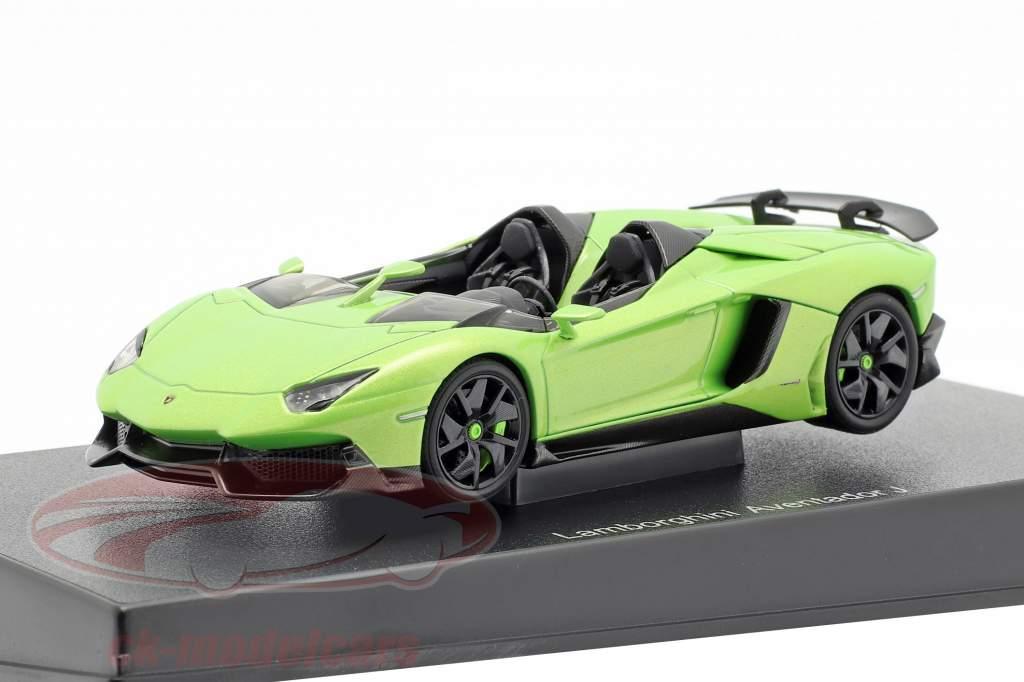 Lamborghini Aventador J Roadster Anno 2012 verde / nero 1:43 AUTOart