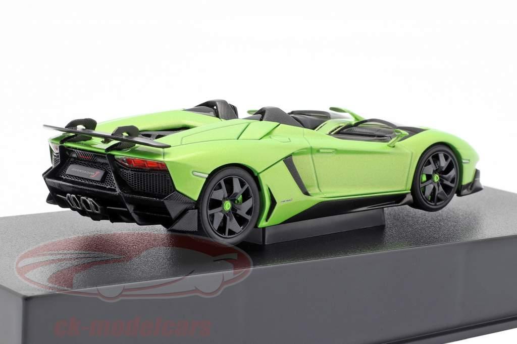 Lamborghini Aventador J Roadster Jaar 2012 groen / zwart 1:43 AUTOart