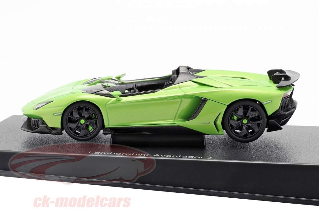 Lamborghini Aventador J Roadster Ano 2012 verde / preto 1:43 AUTOart