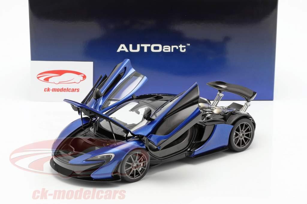 McLaren P1 Baujahr 2013 azur blau 1:18 AUTOart