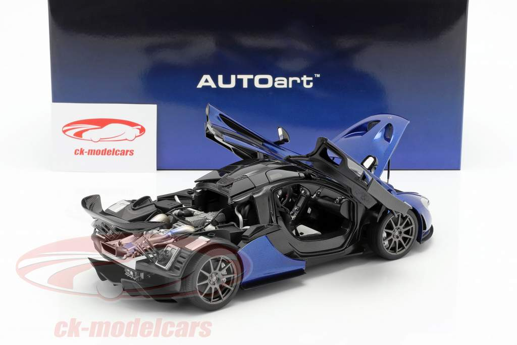 McLaren P1 Opførselsår 2013 azurblå blå 1:18 AUTOart