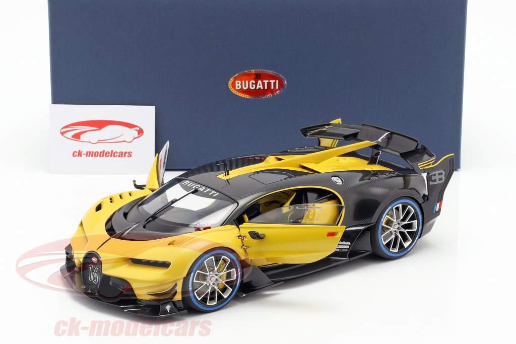 Bugatti Vision GT Opførselsår 2015 midas gul / carbon sort 1:18 AUTOart