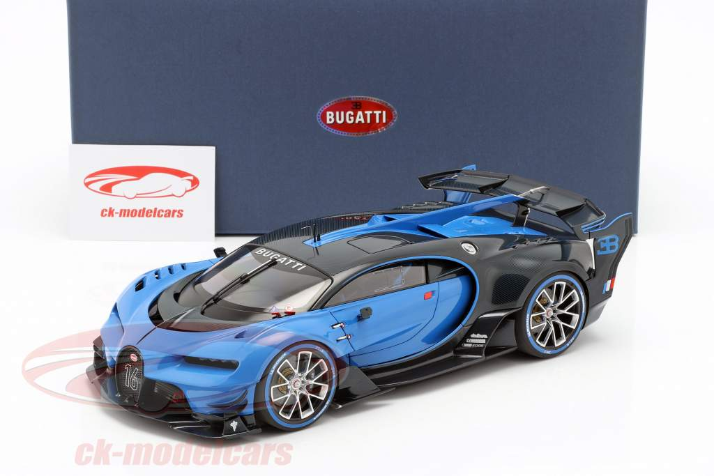 Bugatti Vision GT Bouwjaar 2015 Bugatti racing blauw / carbon blauw 1:18 AUTOart