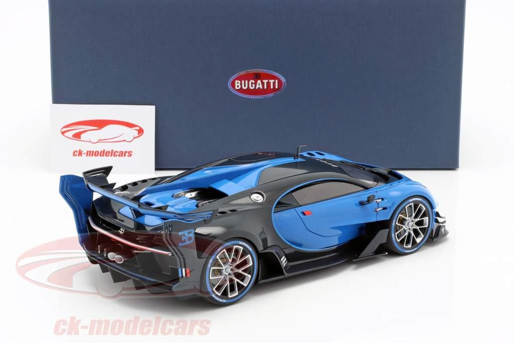 Bugatti Vision GT année de construction 2015 Bugatti racing bleu / carbon bleu 1:18 AUTOart