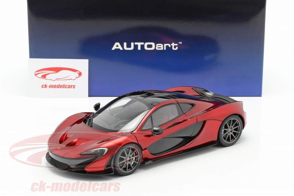 McLaren P1 year 2013 volcano red 1:18 AUTOart
