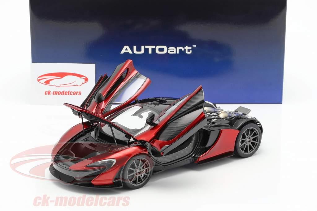 McLaren P1 ano de construção 2013 vulcão vermelho 1:18 AUTOart