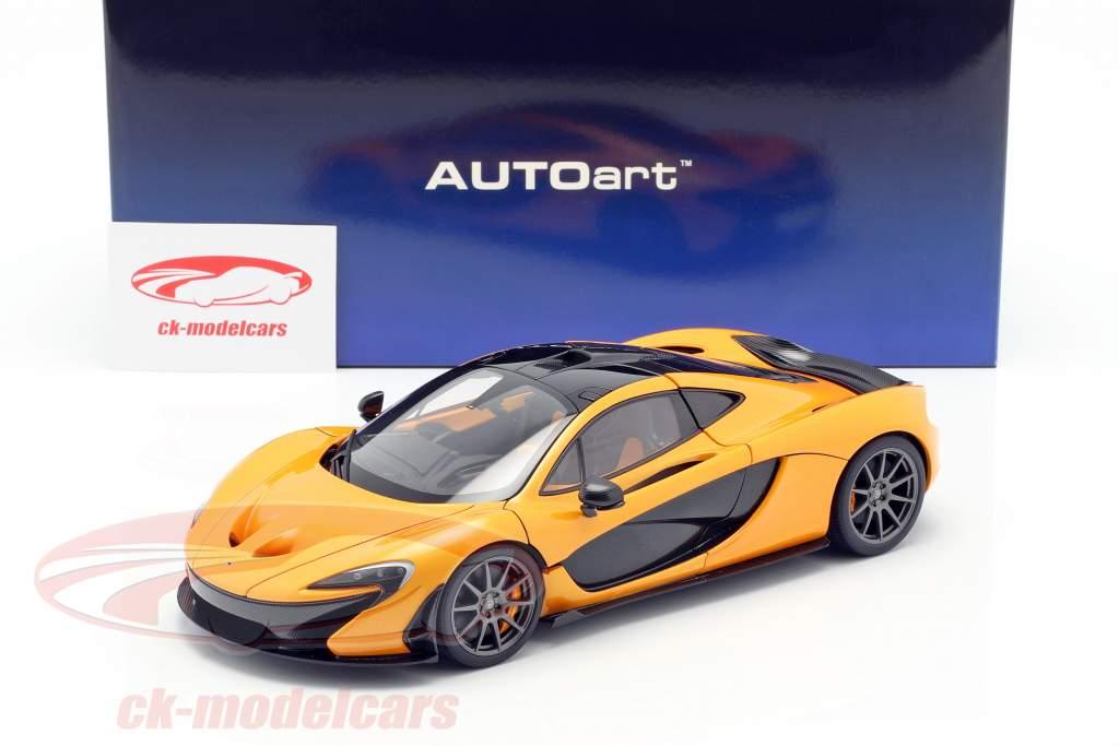 McLaren P1 año de construcción 2013 papaya spark 1:18 AUTOart