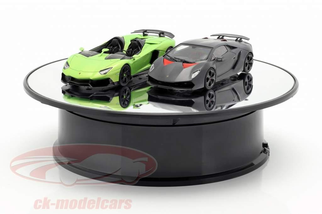 espelho plataforma giratória diâmetro 20 cm para carros modelo em escala 1:24 AUTOart