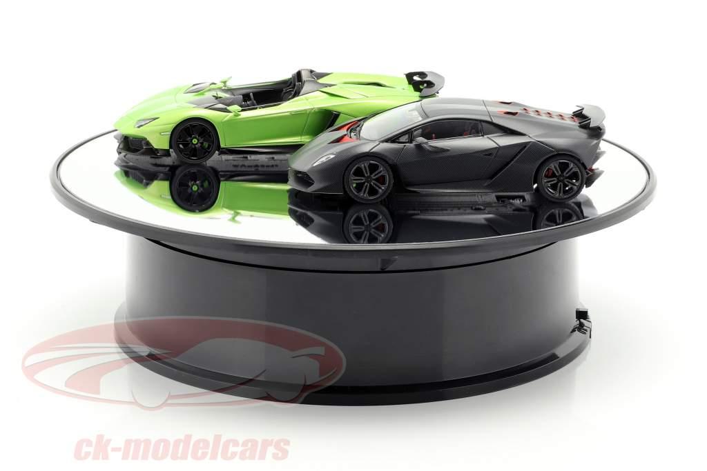specchio girevole diametro 20 cm per modellini di automobili in scala 1:24 AUTOart