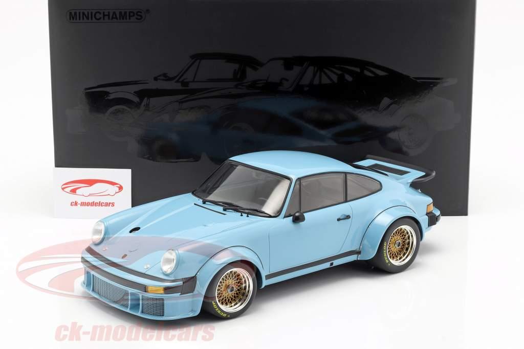 Porsche 934 ano de construção 1976 azul 1:12 Minichamps