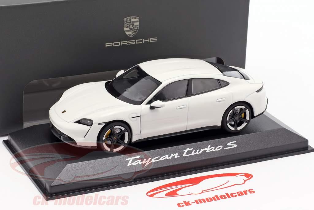 Porsche Taycan Turbo S año de construcción 2019 carrara blanco 1:43 Minichamps