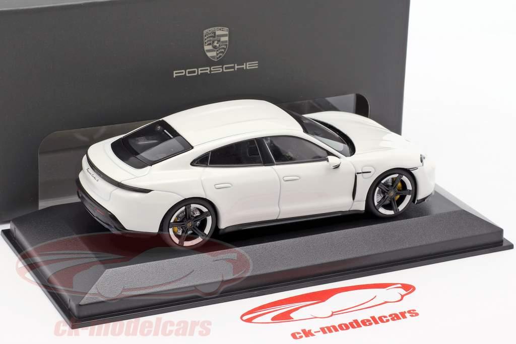 Porsche Taycan Turbo S year 2019 carrara white 1:43 Minichamps
