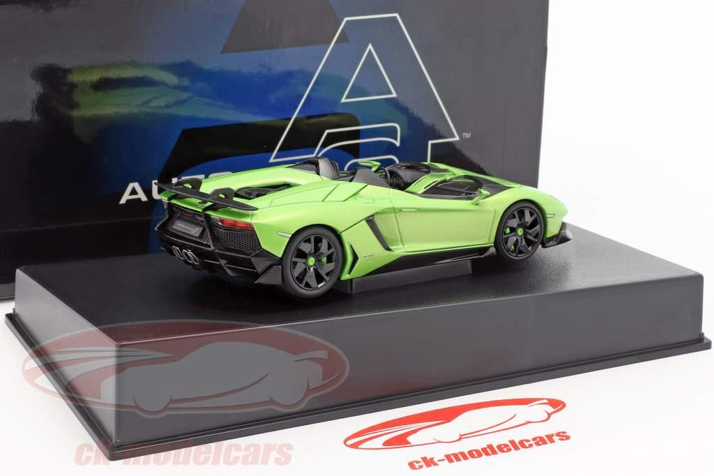 Lamborghini Aventador J Roadster Baujahr 2012 grün / schwarz 1:43 AUTOart