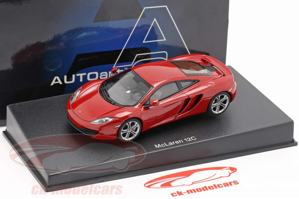 McLaren MP4-12C Ano 2011 vermelho metálico 1:43 AUTOart