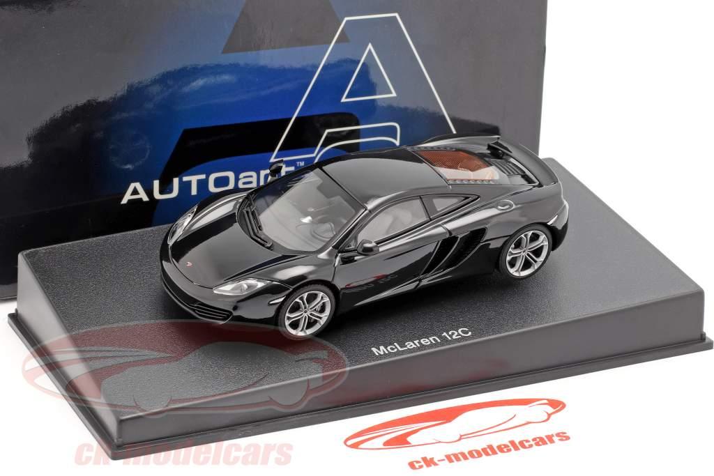 McLaren MP4-12C Jaar 2011 zwart metalen 1:43 AUTOart