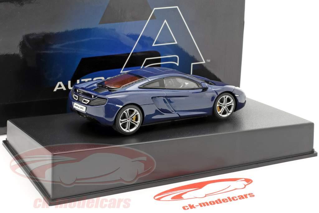McLaren MP4-12C Year 2011 blue metallic 1:43 AUTOart