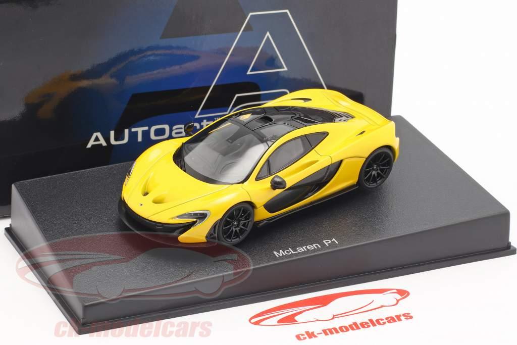 McLaren P1 År 2013 vulkan gul 1:43 AUTOart