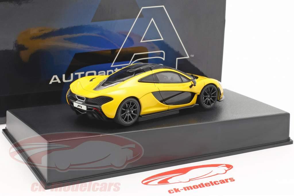 McLaren P1 Jaar 2013 vulkaan geel 1:43 AUTOart