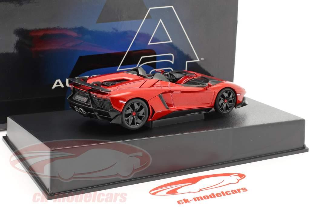 Lamborghini Aventador J Roadster year 2012 red / black 1:43 AUTOart