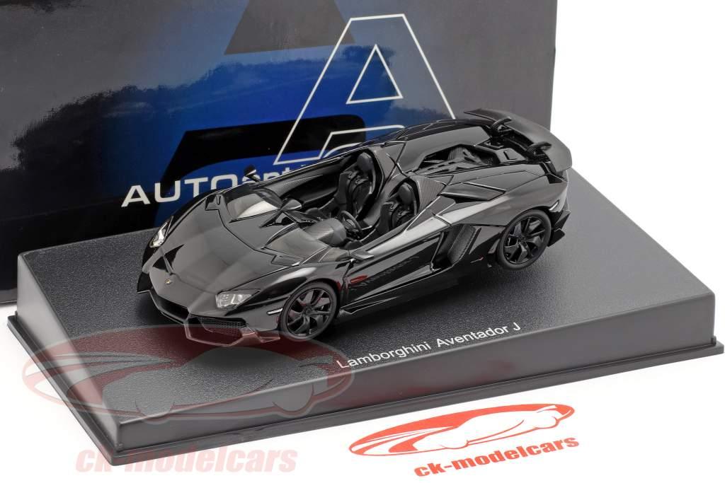 Lamborghini Aventador J Roadster År 2012 sort 1:43 AUTOart