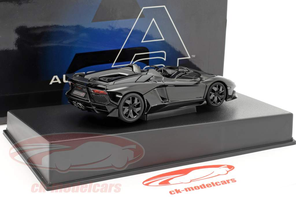 Lamborghini Aventador J Roadster Jaar 2012 zwart 1:43 AUTOart