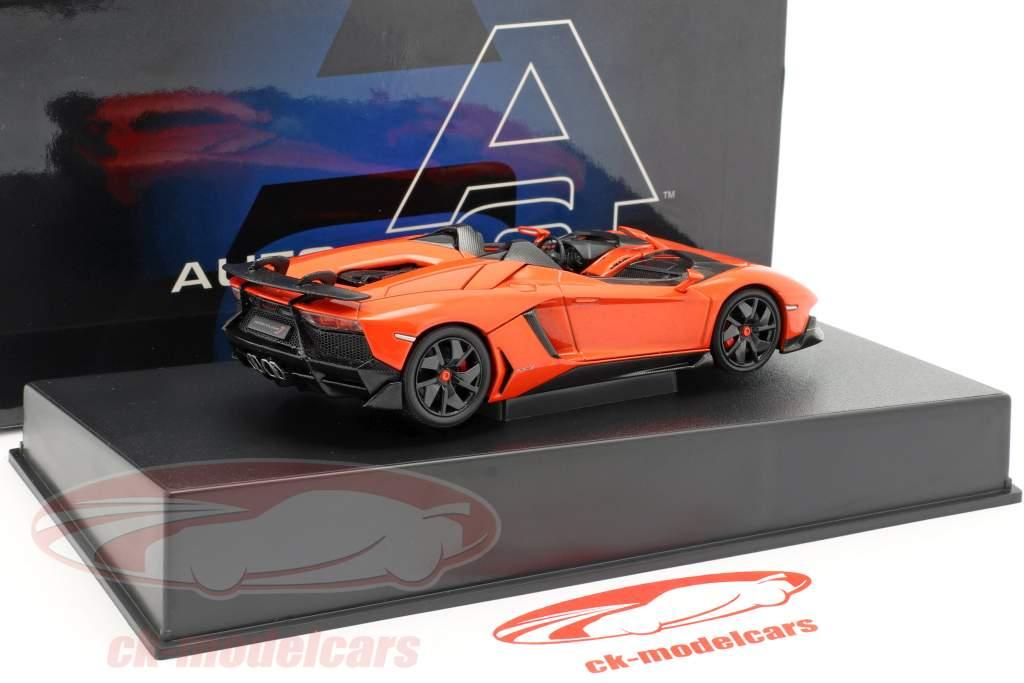 Lamborghini Aventador J Roadster Year 2012 orange / black 1:43 AUTOart