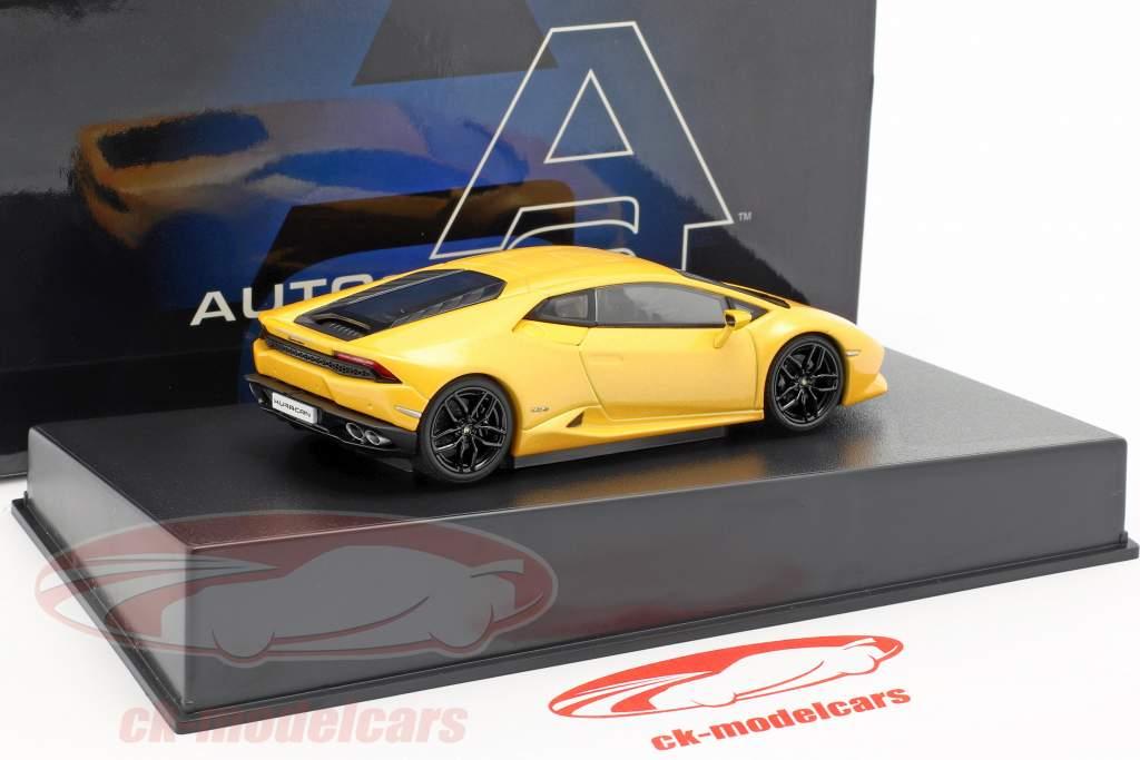 Lamborghini Huracan LP 610-4 anno di costruzione 2014 giallo metallico 1:43 AUTOart