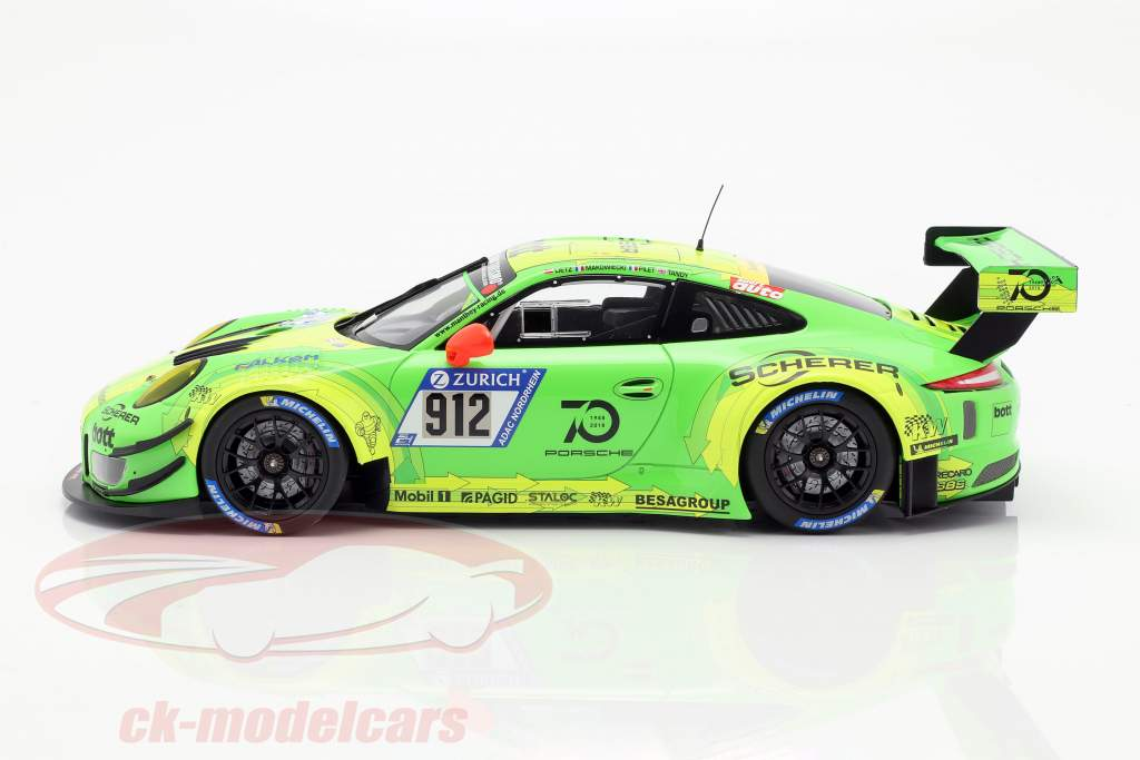 Porsche 911 (991) GT3 R #912 Winner 24h Nürburgring 2018 Manthey Racing 1:18 Minichamps