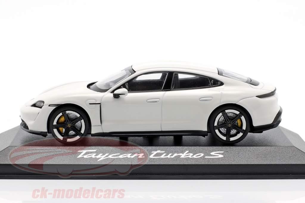 Porsche Taycan Turbo S anno di costruzione 2019 carrara bianco 1:43 Minichamps