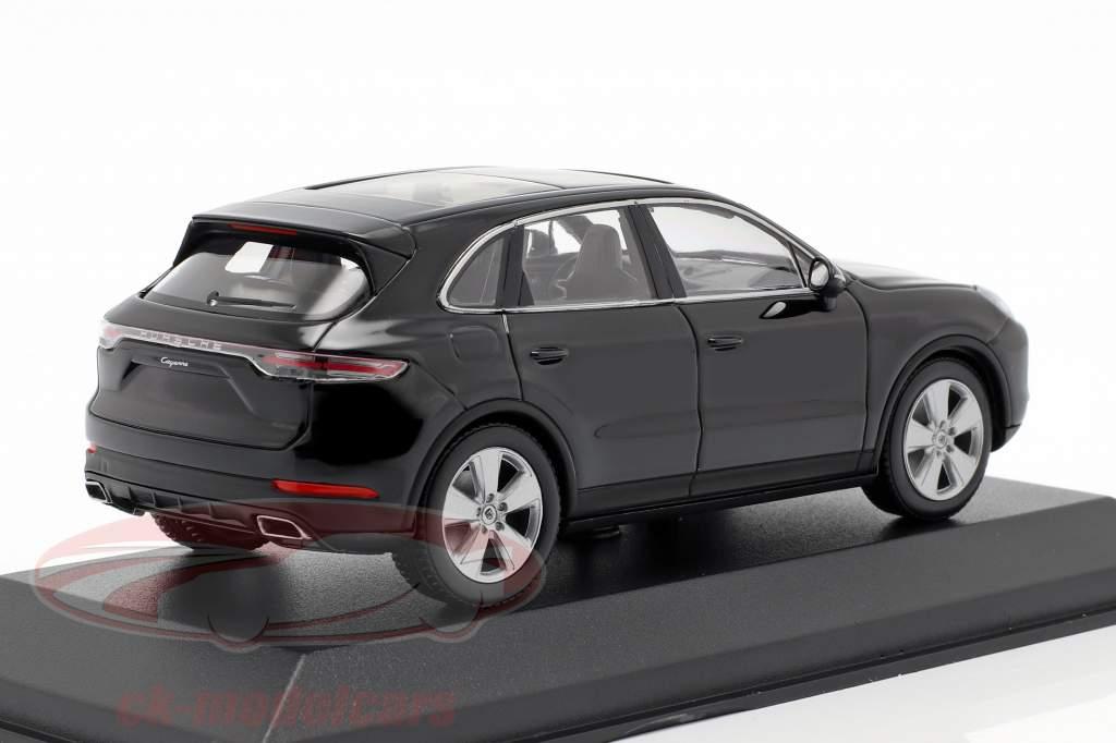 Porsche Cayenne anno di costruzione 2017 nero profondo metallico 1:43 Minichamps