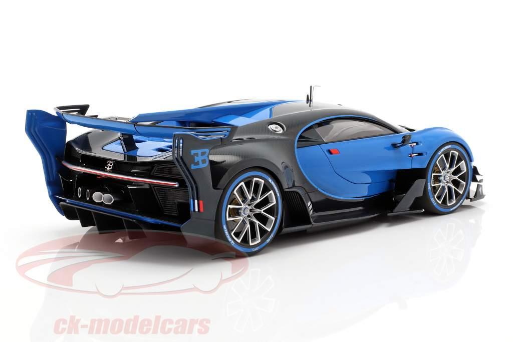 Bugatti Vision GT anno di costruzione 2015 Bugatti racing blu / carbon blu 1:18 AUTOart